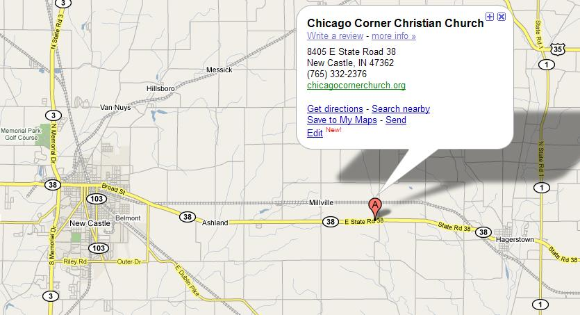 Chicago Corner Church Location Map